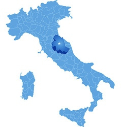 Map of italy perugia vector