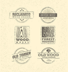reclaimed wood design element creative set of vector image vector image