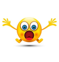 shocked emoji character vector image