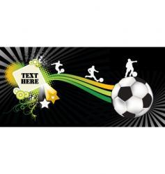 soccer black vector image vector image
