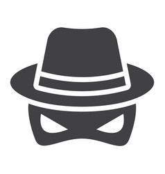 Spy solid icon incognito and agent vector