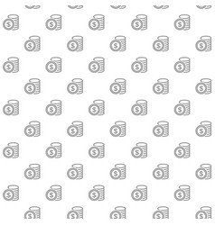 unique digital money and coins seamless pattern vector image