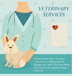 veterinary medicine hospital doctor with cute vector image vector image