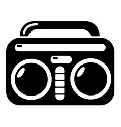 Vintage boombox icon simple style vector