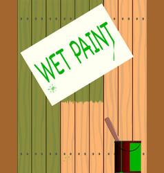 wet paint vector image vector image