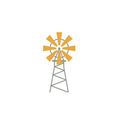 Windmill flat icon isoltaed on white background vector