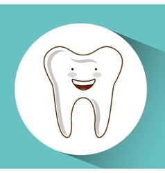Dental care icon vector
