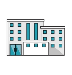 Isolated building with windows design vector