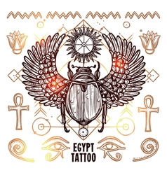 Egypt occult tattoo vector