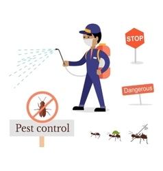 Set of pest control banner vector