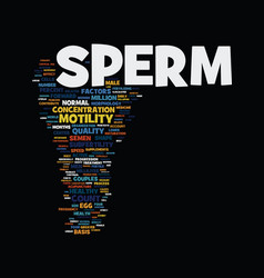 Men and sperm health text background word cloud vector