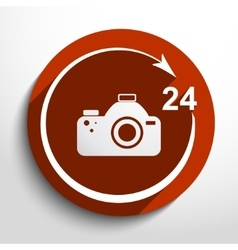 photo studio 24 hours service vector image