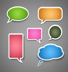 Collection colored dialog bubbles template vector