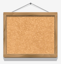 Cork board with wooden frame vector