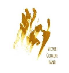 Yellow greased hand imprint vector