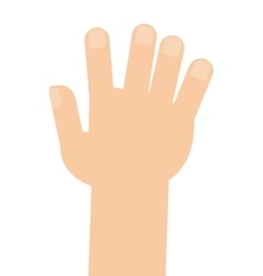 Caucasian right hand vector