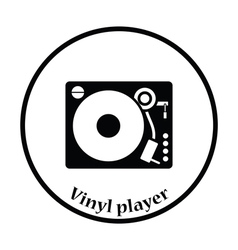Vinyl player icon vector