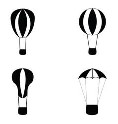 balloon icon set vector image vector image