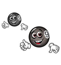 billiard ball cartoon vector image