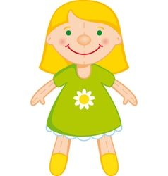 blond doll vector image