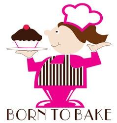 Born to bake vector
