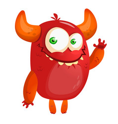 Cartoon red monster vector