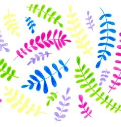 color pencils drawing fern vector image
