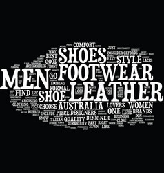 Find men footwear at your comfort and style text vector