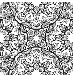 Hand-drawn mehendi ornamental seamless pattern vector