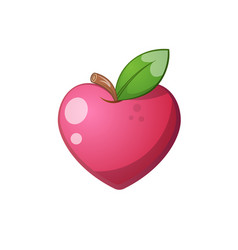 heart fruit icon cartoon vector image