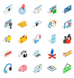 It technology icons set isometric style vector