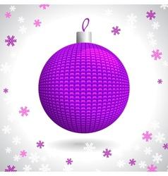 Knitted Christmas Ball vector image