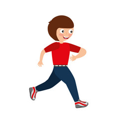 Little kid running icon vector