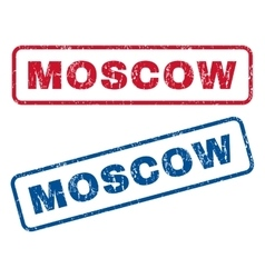 Moscow rubber stamps vector