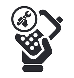 phone repairer icon vector image vector image
