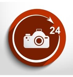 photo studio 24 hours service vector image