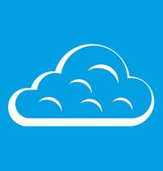 Rainy cloud icon white vector