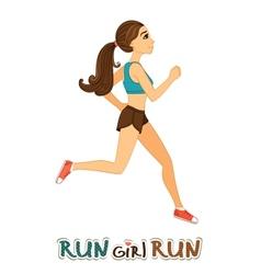 Running girl isolated vector