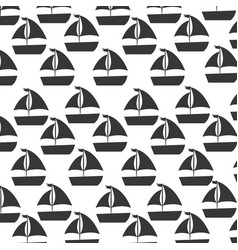 Sailboat sea pattern background vector