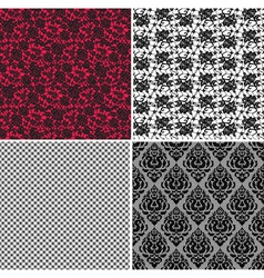 set of lace vector image