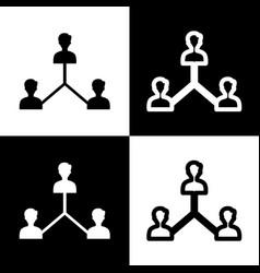 Social media marketing sign black and vector