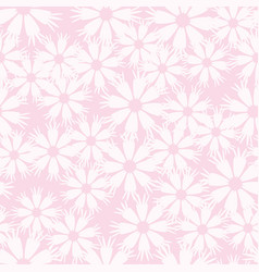Spring flower pattern seamless vector