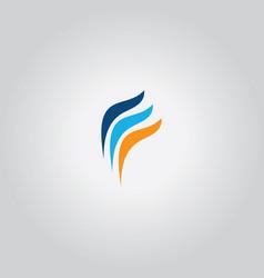 swirl finance logo vector image