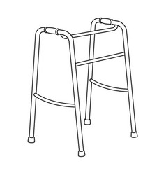 walker for the disabledold age single icon in vector image