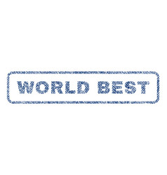 World best textile stamp vector