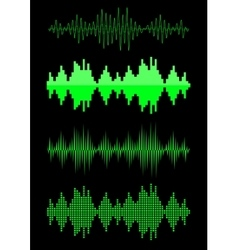 Sound equalizer graphic set vector