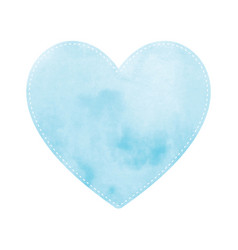 blue heart on white background vector image