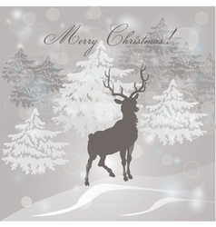 Christmas Trees Vintage Frames vector image