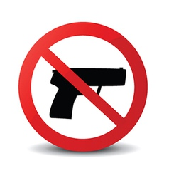 No guns icons vector