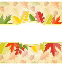 Shiny Autumn Natural Leaves Background vector image